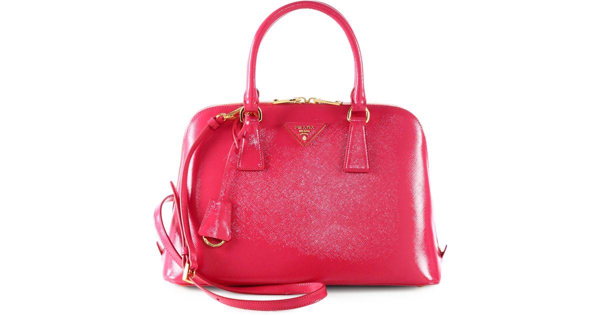 abbddecc Prada Red Saffiano Vernice Small Promenade Bag