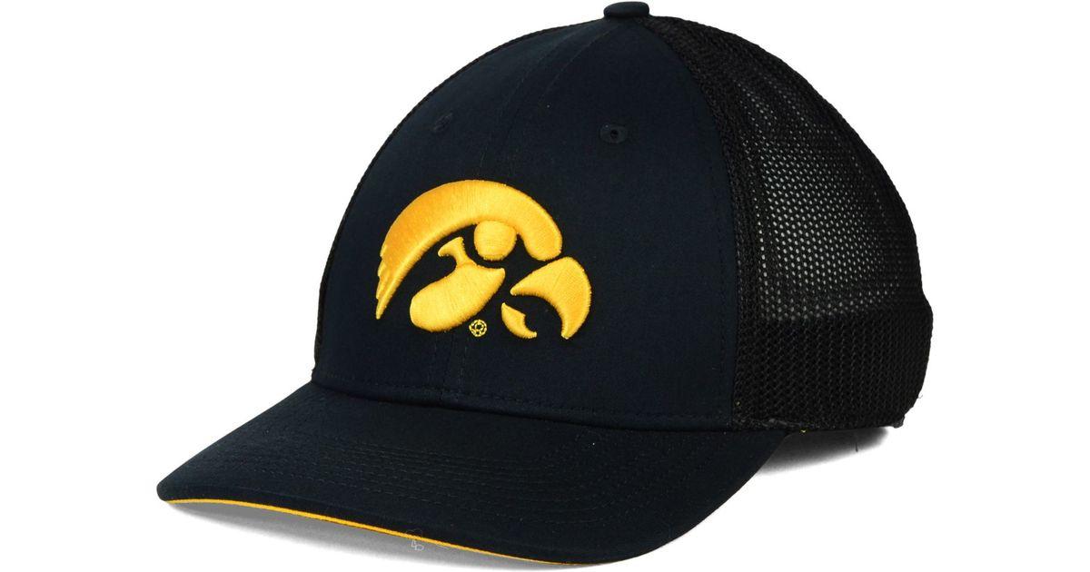 best website df5c2 bd6ed Nike Iowa Hawkeyes L91 Swoosh Flex Stretch-Fit Cap in Black for Men - Lyst