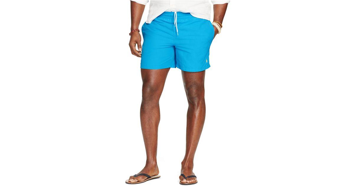 da3d7666b1 Polo Ralph Lauren Big And Tall Nylon Hawaiian Swim Shorts in Blue for Men -  Lyst