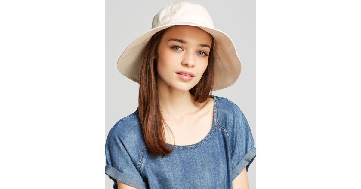 590ca441fc579 Helen Kaminski Vahlla Bucket Hat in Natural - Lyst