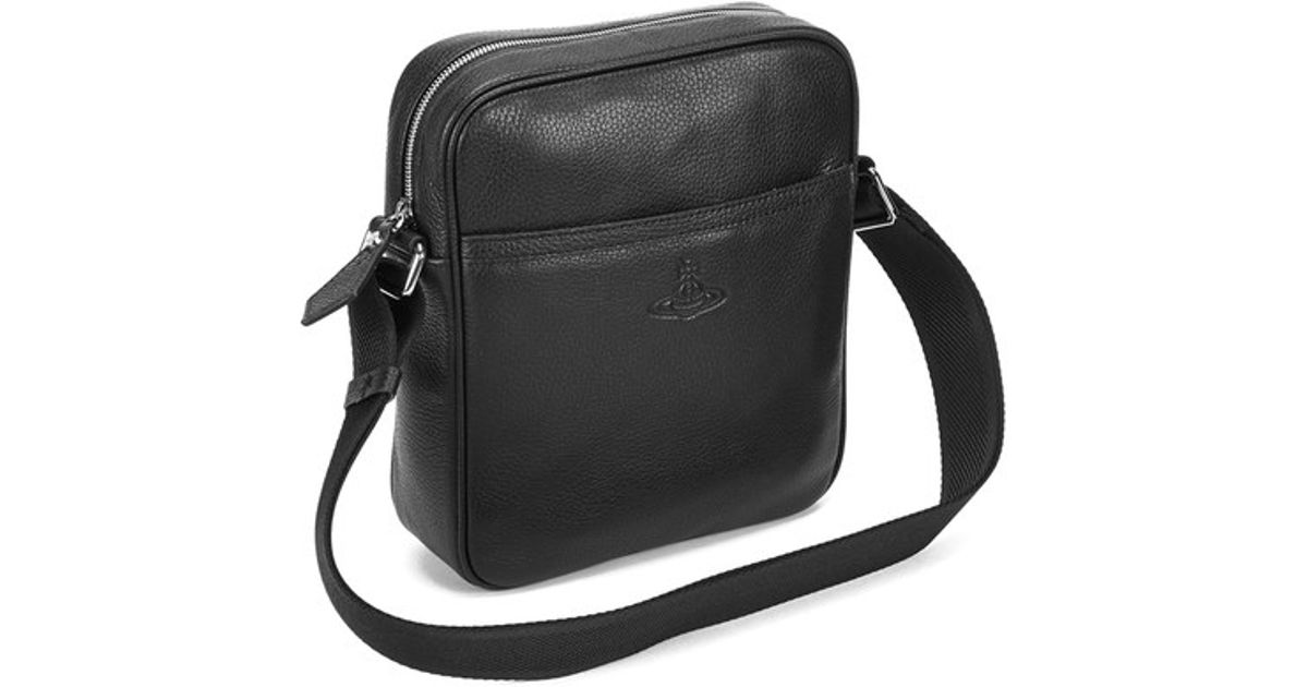 4e37536114 Vivienne Westwood Men s Leather Small Cross Body Bag in Black for Men - Lyst
