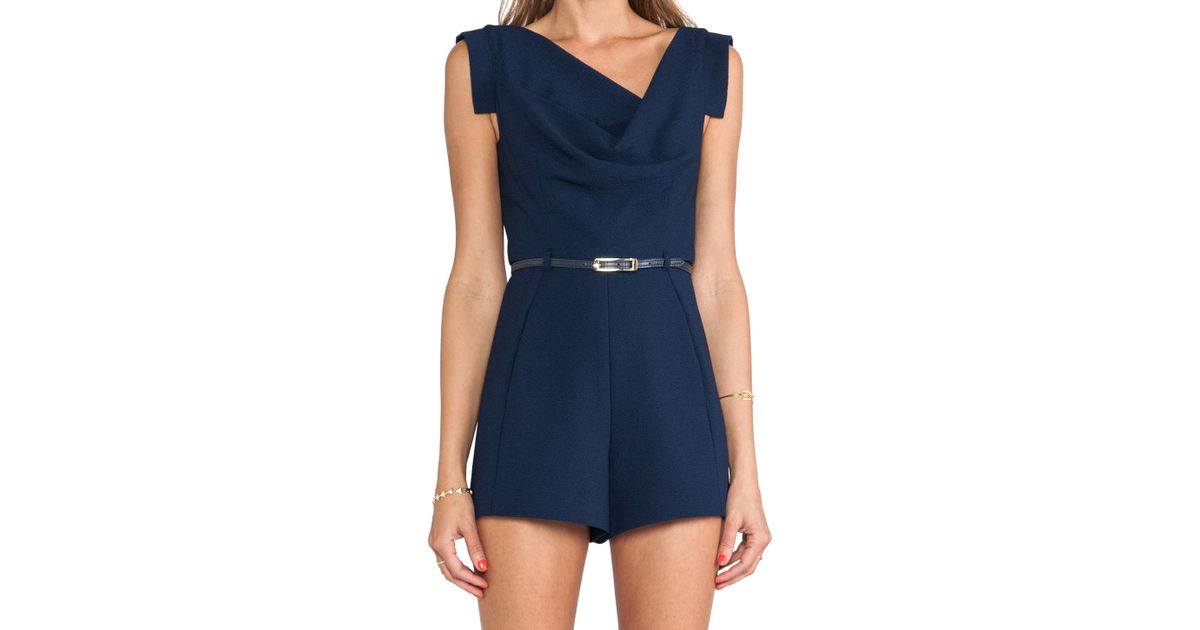 e0644ff0435 Lyst - Black Halo Jackie O Romper in Blue