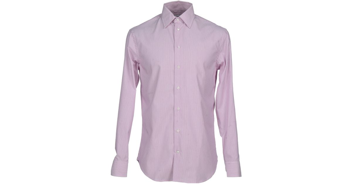 Lyst armani shirt in purple for men Light purple dress shirt men