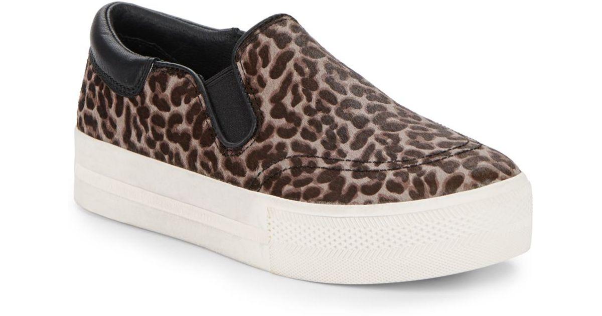 96bb60f95fc Lyst - Ash Jam Leopard-print Calf Hair Platform Sneakers