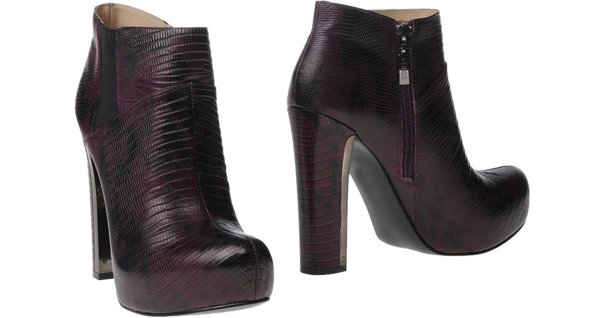 9b257e9c644 Guess Purple Ankle Boots