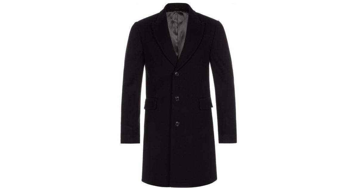 697bdc8e98a Lyst - Paul Smith Men's Black Wool-cashmere Epsom Coat in Black for Men