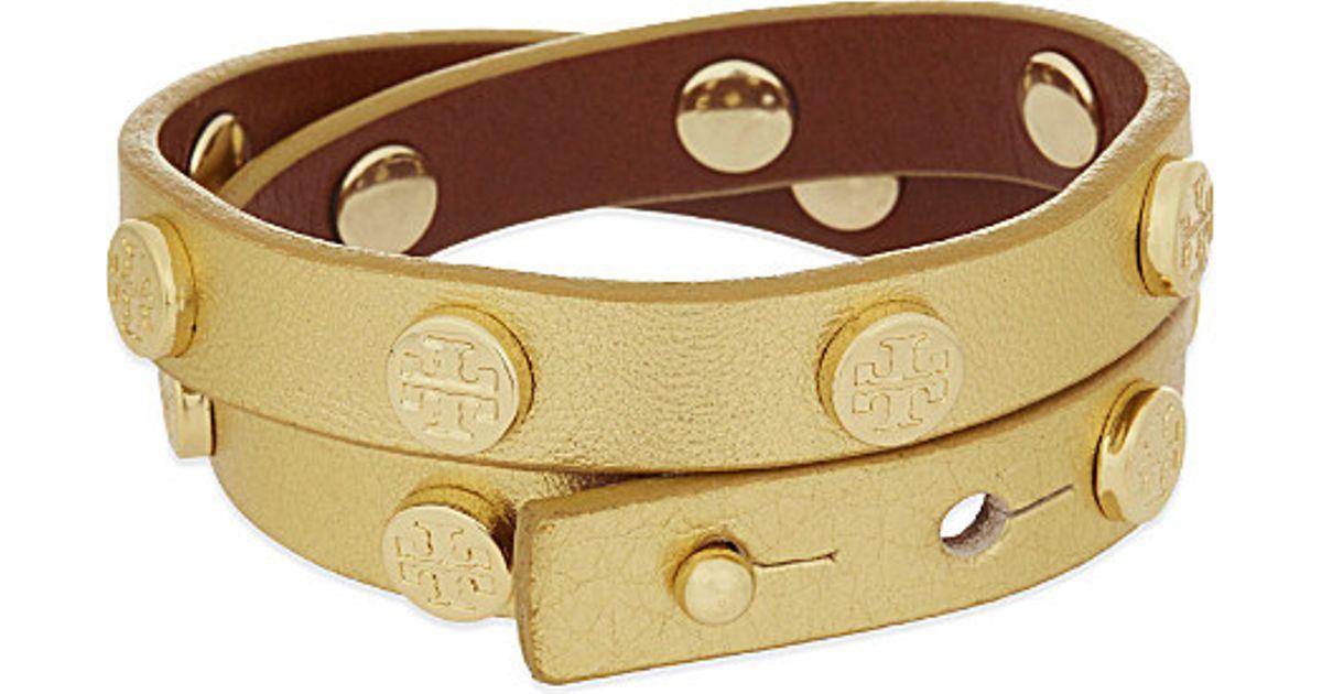 Tory Burch Multicolor Leather Double Wrap Bracelet