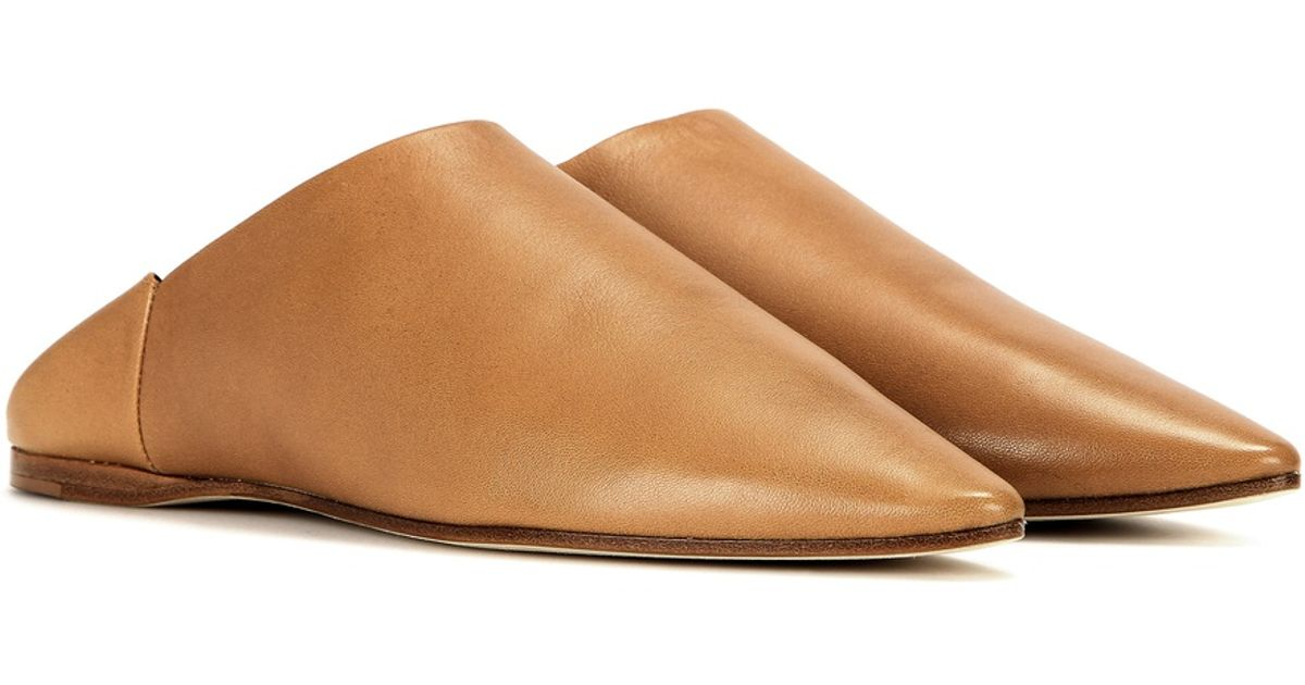 Acne Studios Amina Leather Slippers in