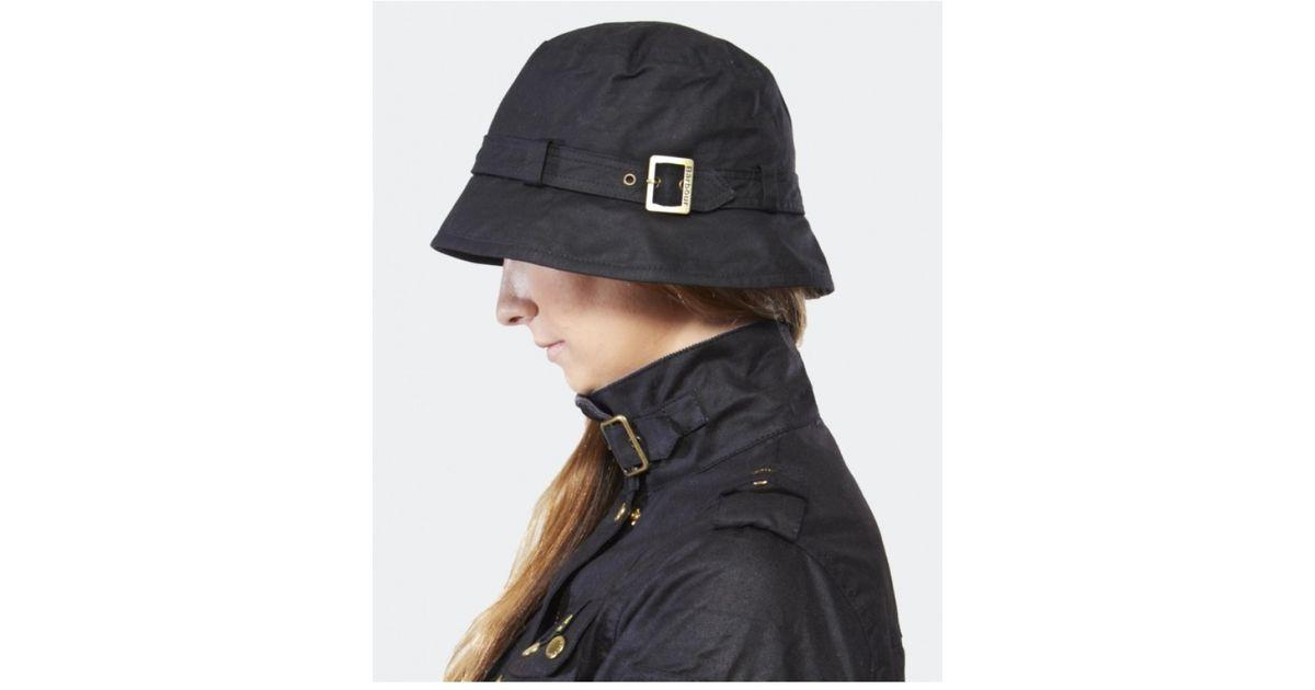 Lyst - Barbour Kelso Belted Bucket Hat in Black 75d023bdd6c2