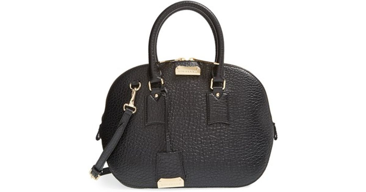 5e81bf740127 Lyst - Burberry  small Orchard  Leather Satchel in Black
