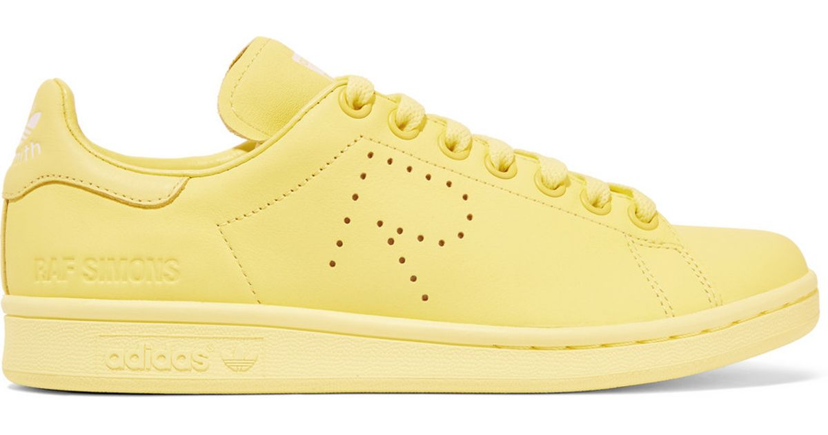 98a76149fec1 adidas Originals - + Raf Simons Stan Smith Perforated Leather Sneakers -  Pastel Yellow in Yellow - Lyst