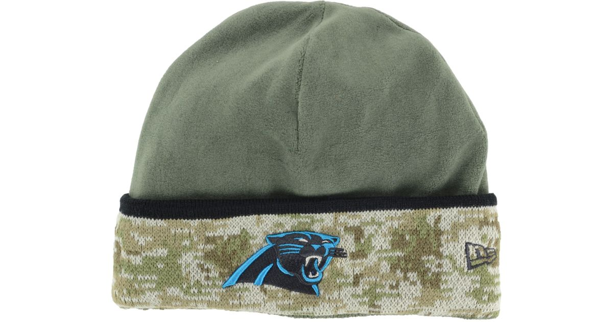 83b5d9e2373db4 ... germany lyst ktz carolina panthers salute to service knit hat in green  for men 9a76b 40765