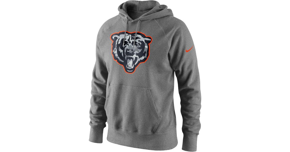 Nike Men's Chicago Bears Fly Over Pack Hoodie in Gray for Men | Lyst