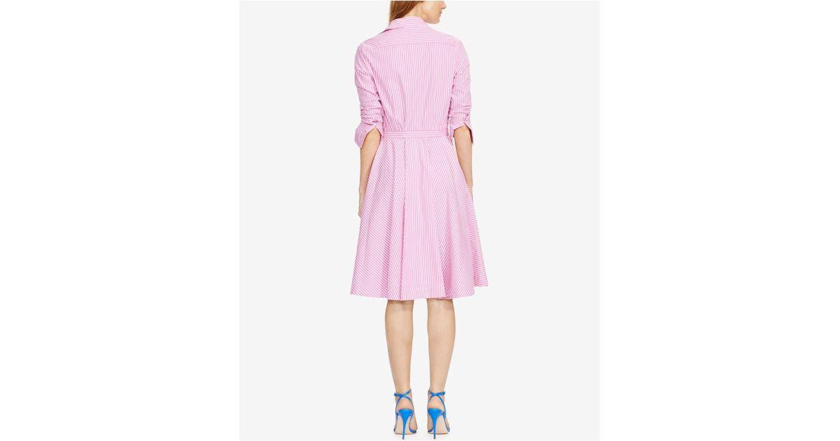 Striped Bengal Lauren Polo Shirtdress Pink Ralph 2WIEHD9