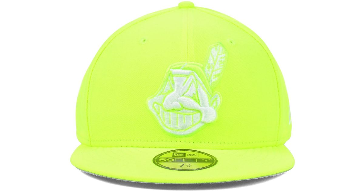 separation shoes ac101 8d98b ... wholesale lyst ktz cleveland indians mlb c dub 59fifty cap in yellow  for men 2cac6 bdb99