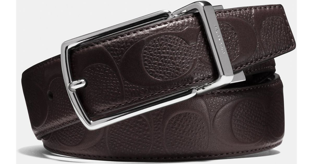 6af4598b8e COACH Brown Modern Harness Cut-to-size Reversible Signature Crossgrain  Leather Belt for men