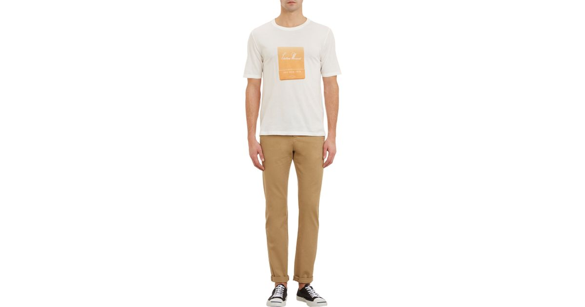 9335b3ec658 Band of Outsiders Chateau Marmont Matchbook Tshirt in White for Men - Lyst