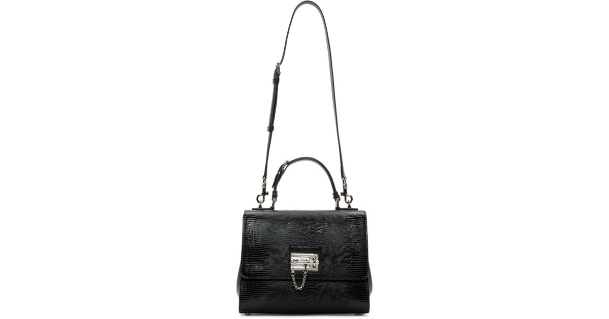 Lyst - Dolce   Gabbana Black Iguana Medium Monica Bag in Black 69e17f4837eda