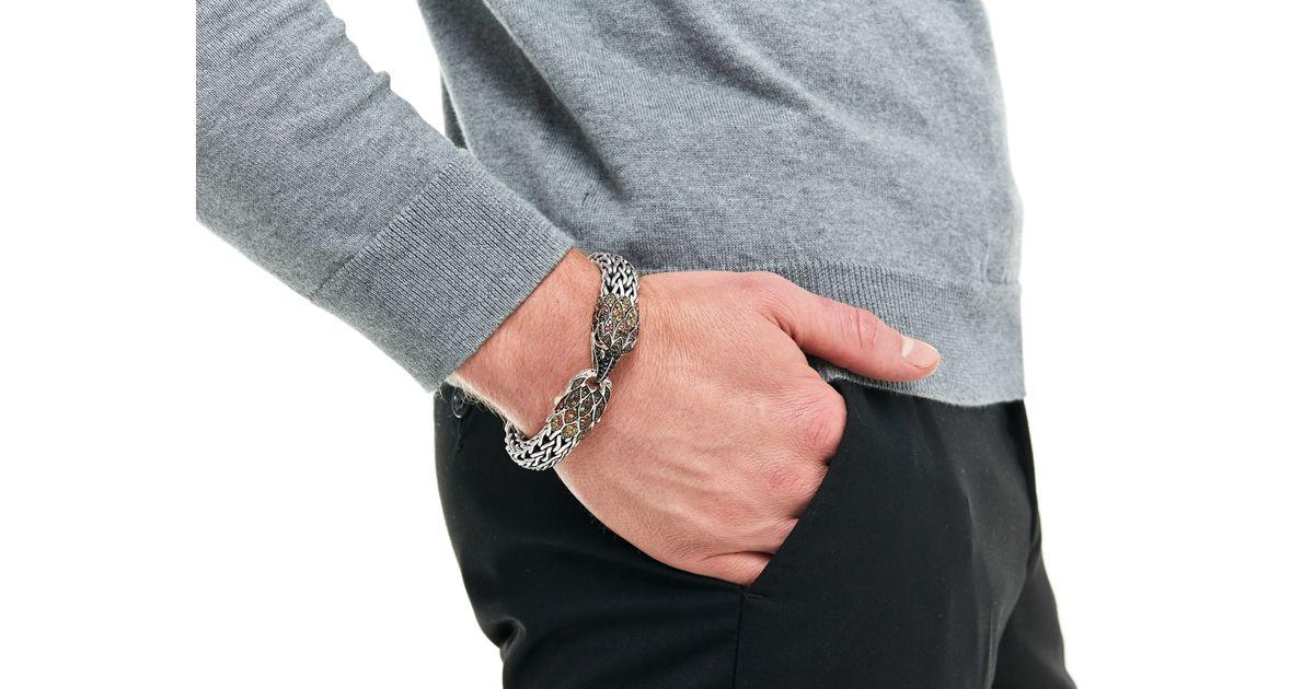 Lyst John Hardy Eagle Station Bracelet With Smoky Quartz Orange Shire In Metallic For Men
