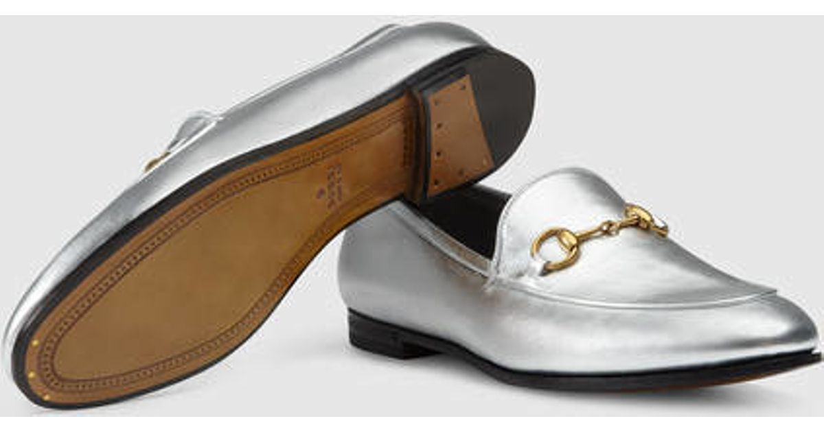 27bdb3e1f315 Lyst - Gucci Gucci Jordaan Metallic Loafer in Metallic