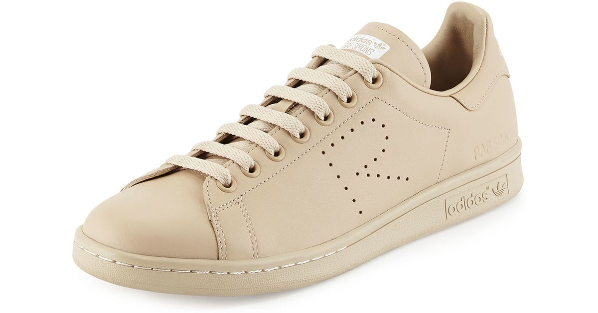 new product 640c4 eab5b Adidas By Raf Simons Natural Stan Smith Leather Sneaker