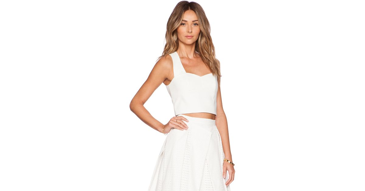 5b20c7fb5ba63 Lyst - Tibi Agathe Sleeveless Corset Top in White