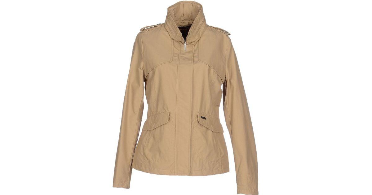 woolrich jacket in natural lyst. Black Bedroom Furniture Sets. Home Design Ideas