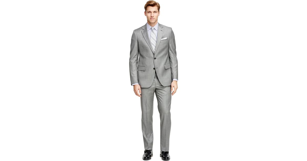 e5201d89bbee Lyst - Brooks Brothers Fitzgerald Fit Saxxon Wool 1818 Suit in Gray ...