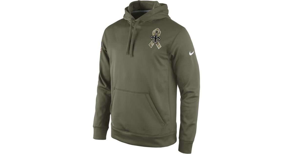 factory price 7a4f3 36cf1 Nike Green Men'S New Orleans Saints Salute To Service Ko Hoodie for men