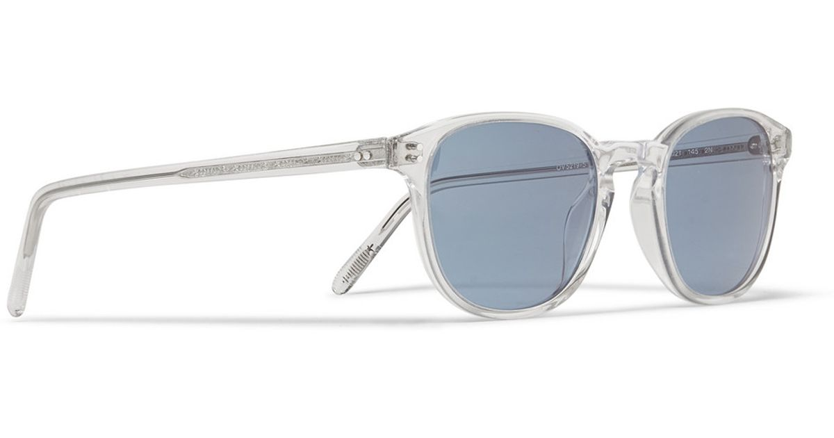 Lyst - Oliver Peoples Fairmont Crystal-Acetate Round-Frame ...