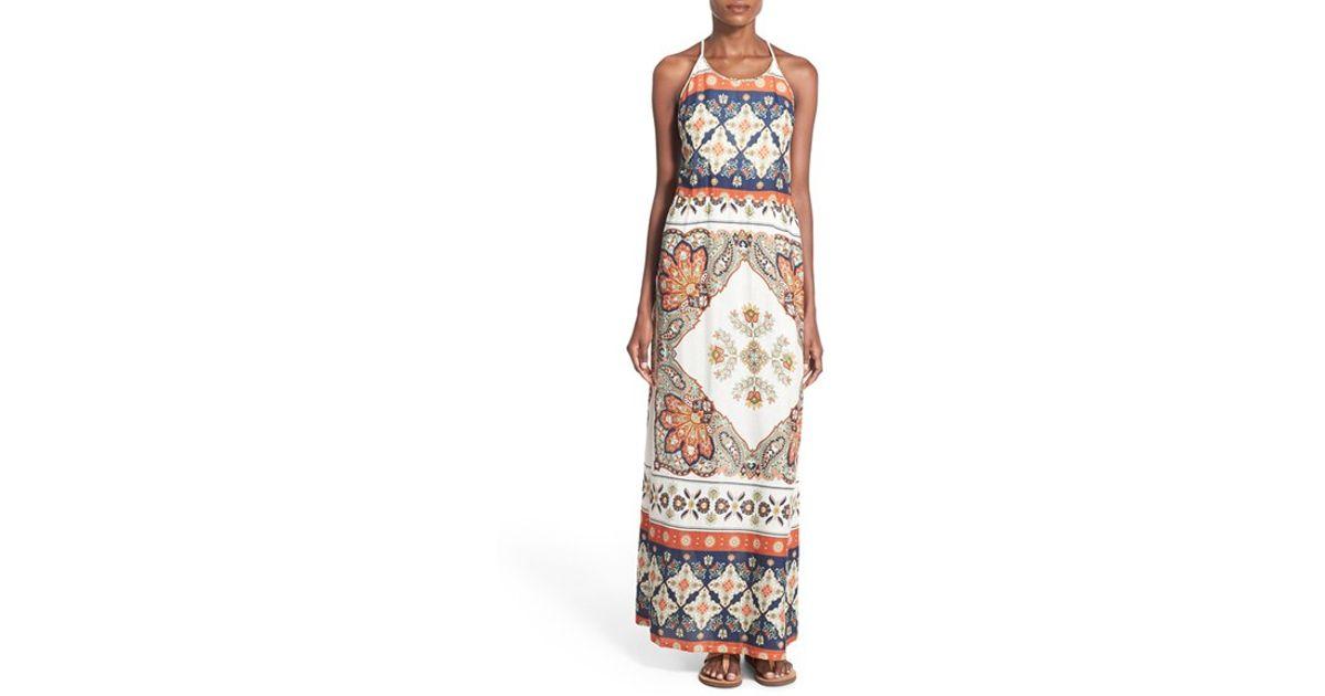 175b87f2d26e Lyst - Roxy Summer Fleet Printed Maxi Dress