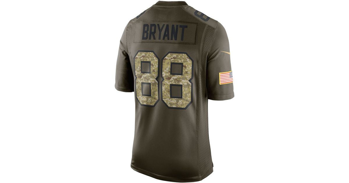 quality design d6b49 5e1df Nike - Green Men's Dez Bryant Dallas Cowboys Salute To Service Jersey for  Men - Lyst