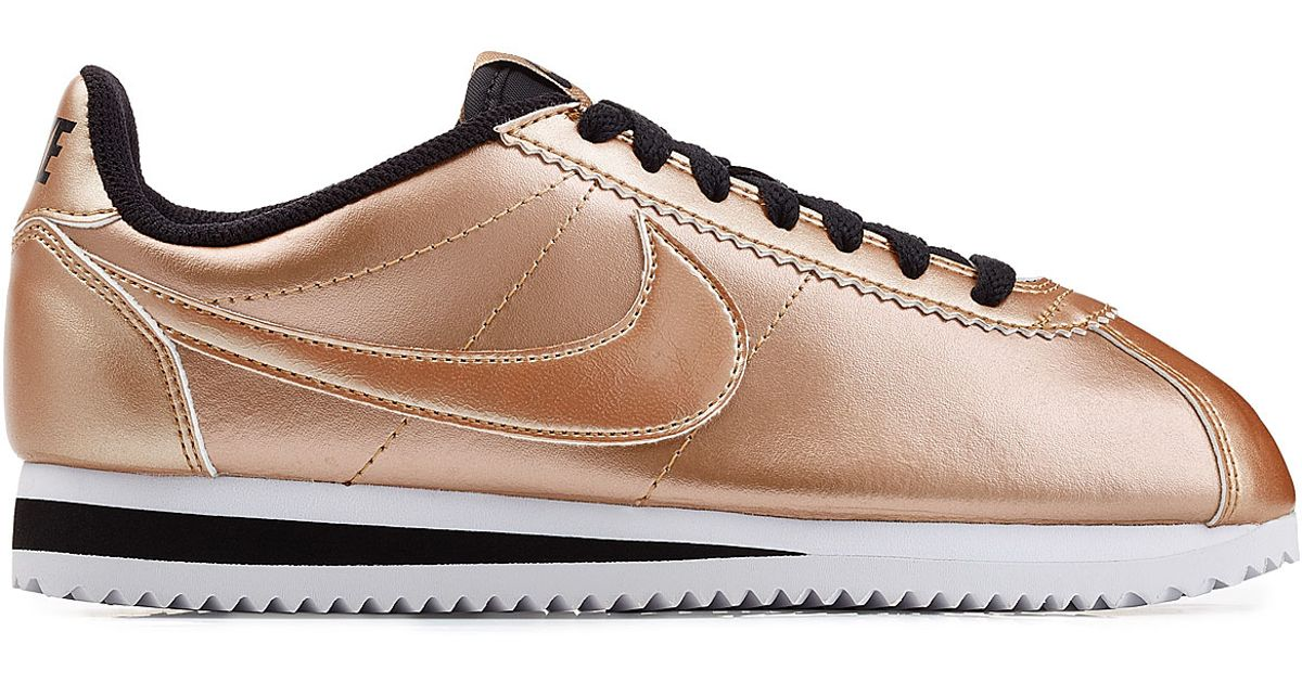 Nike Pink Classic Cortez Metallic Leather Sneakers - Rose