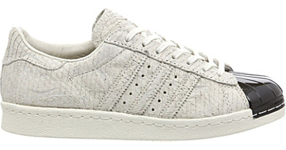 lowest price 040ab fd430 Adidas White Superstar 80's Metal-toe Trainers - For Women