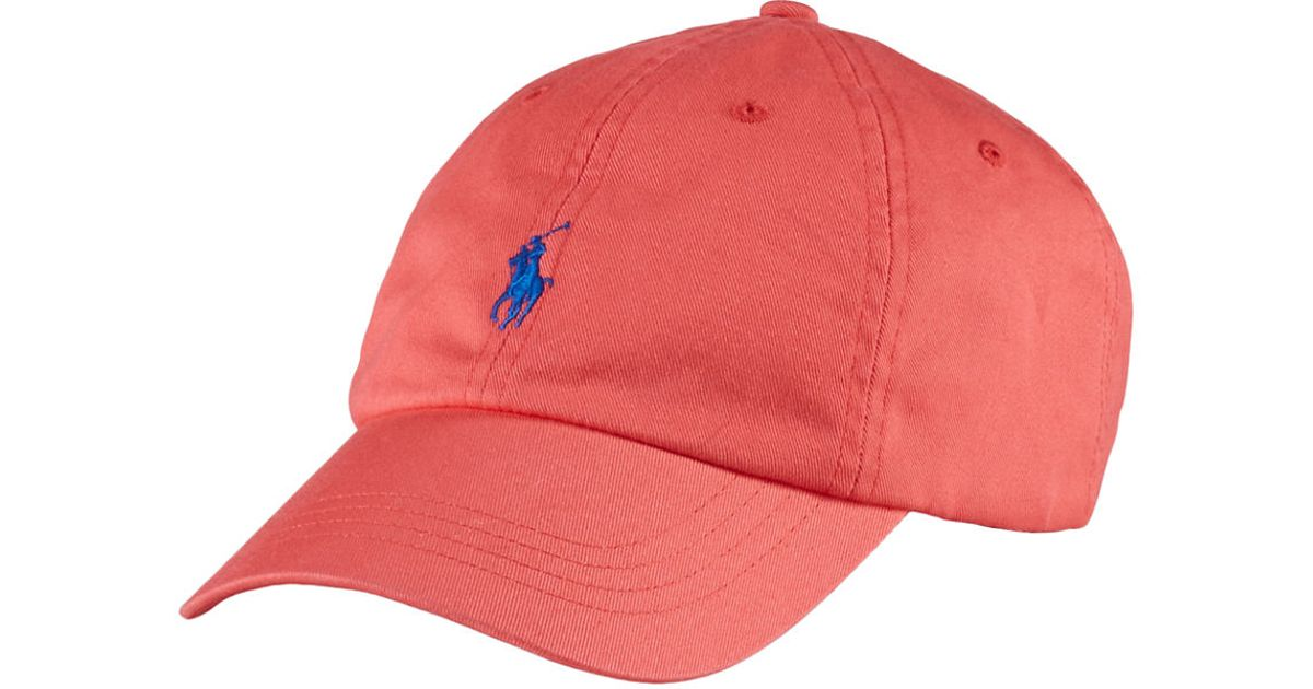 3734e1a7 Polo Ralph Lauren Classic Chino Sports Cap in Pink for Men - Lyst