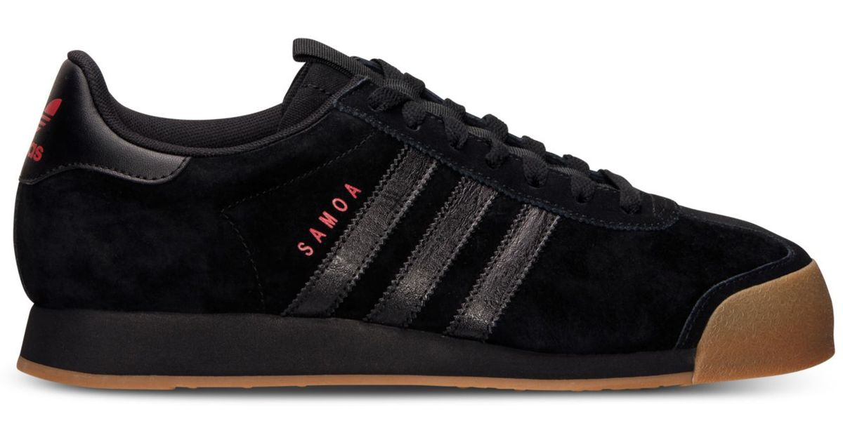 new concept c17ab 6424e Lyst - adidas Men S Samoa Casual Sneakers From Finish Line in Black for Men