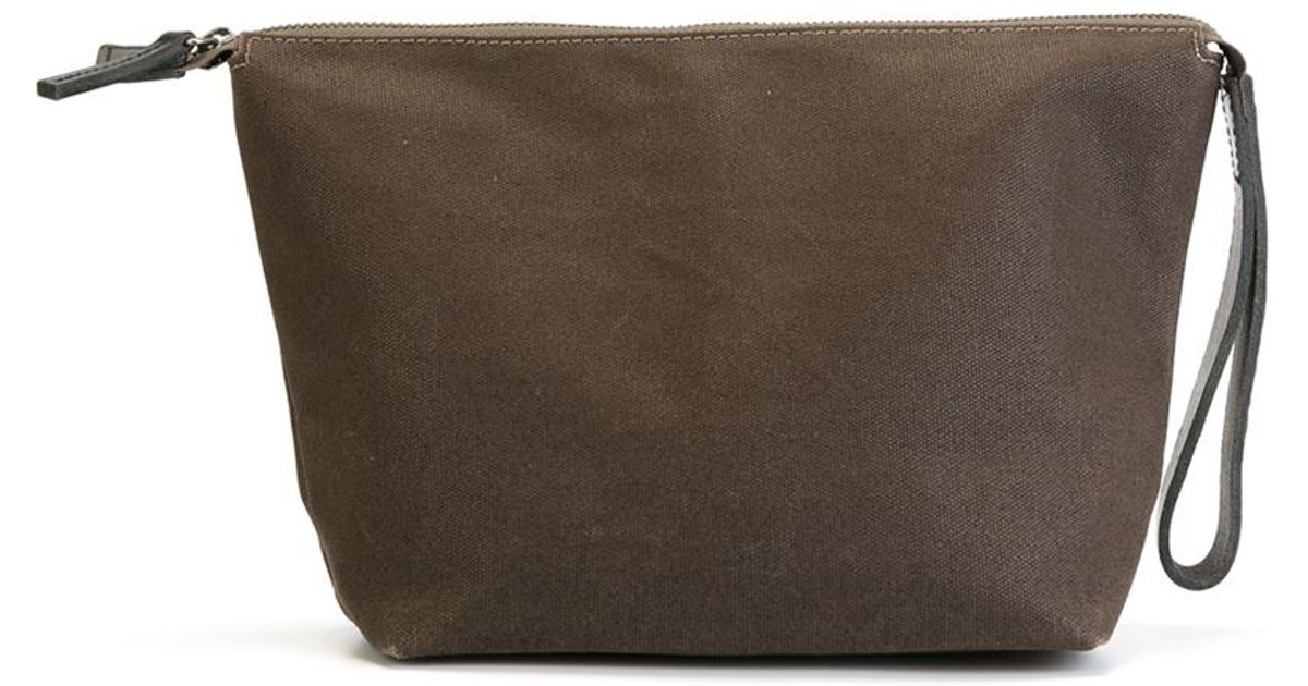 ally capellino vinnie wash bag in brown lyst