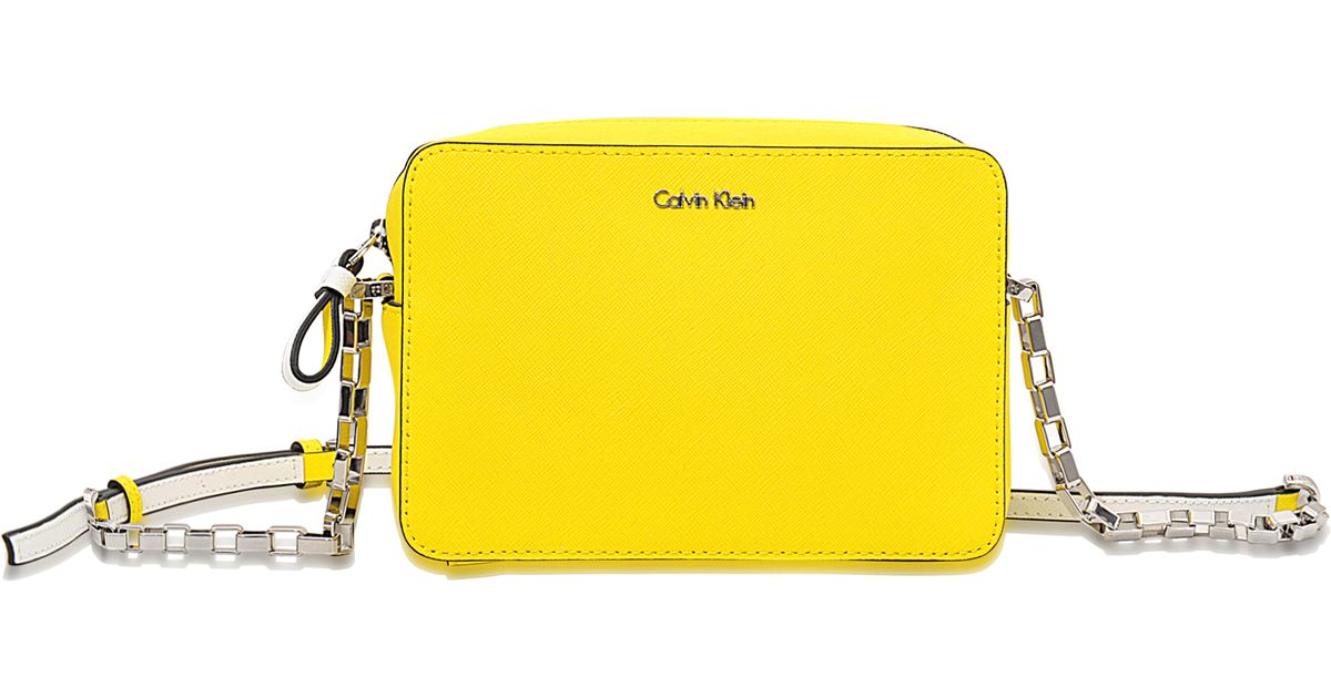 acbebc9195 Calvin Klein Sofie Mini Crossbody Bag in Yellow - Lyst