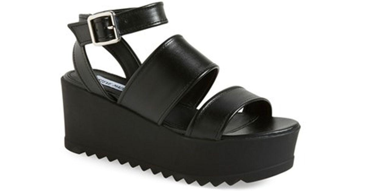 98c030fa9b3 Lyst steve madden snorkell platform sandal in black jpg 1200x630 Steve  madden black leather platforms
