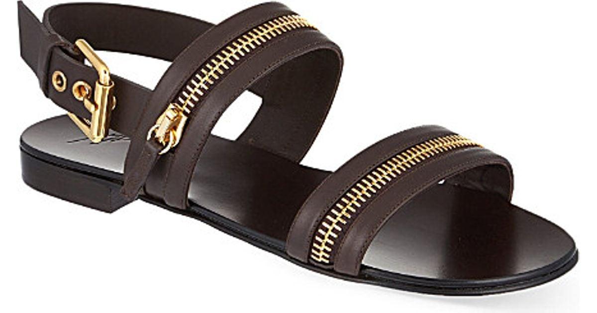 23b3d69d6 Giuseppe Zanotti Zip Strap Sandals in Brown for Men - Lyst