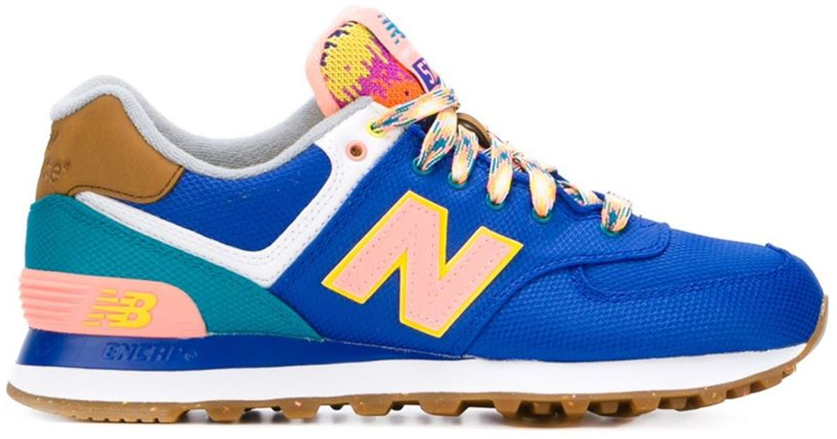 best loved 0aa11 3acfe New Balance Blue 'neon Mountain 574' Sneakers