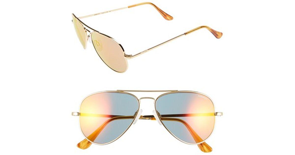 82c91b4ec1 Lyst - Randolph Engineering  concorde - Flash  57mm Aviator Sunglasses -  23k Gold  Green Flash Pc in Metallic for Men
