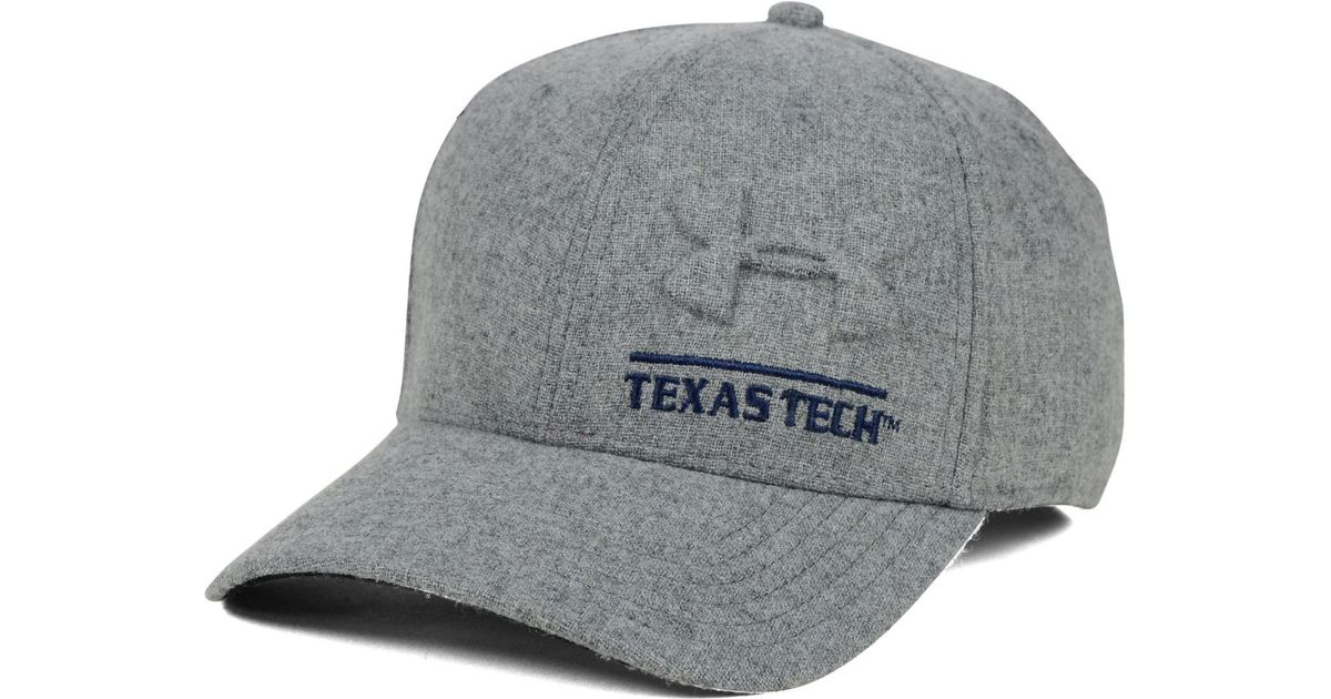 432b833f60445 ... clearance lyst under armour texas tech red raiders grayout stretch cap  in gray for men e4ea3 ...