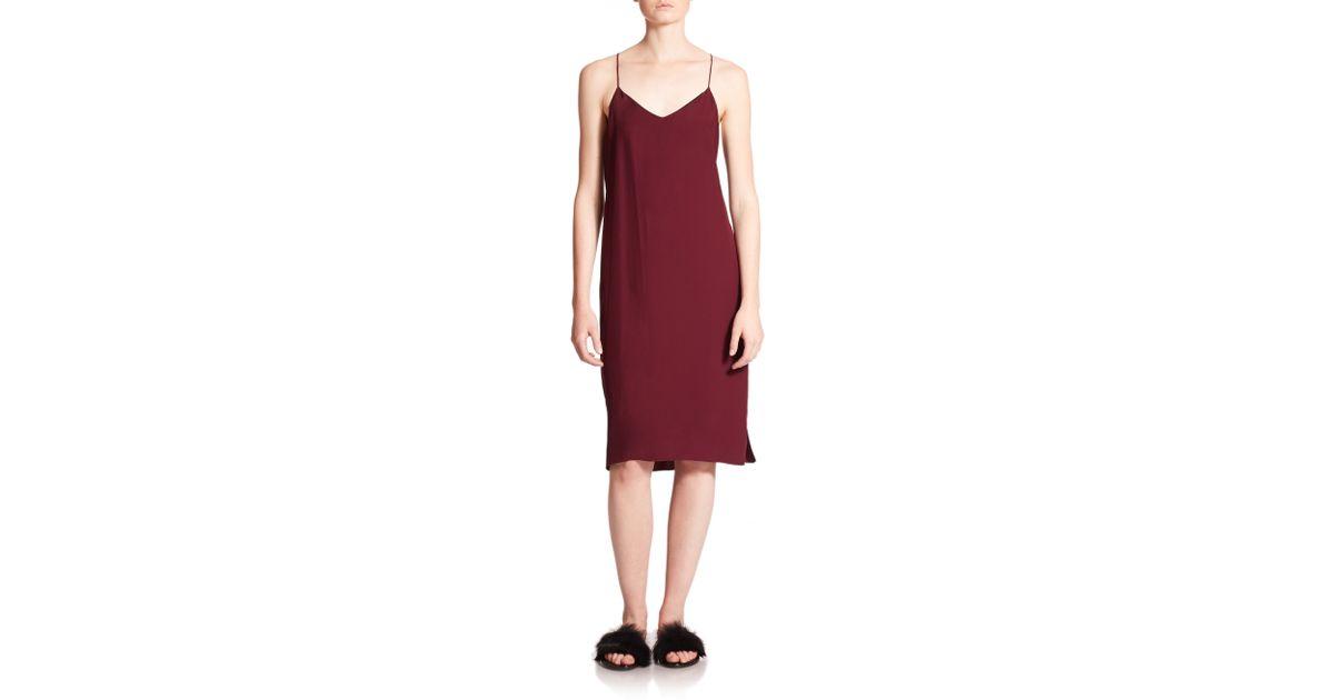 b8c2ed86a2a86 Tibi Satin-back Crepe Slip Dress in Purple - Lyst