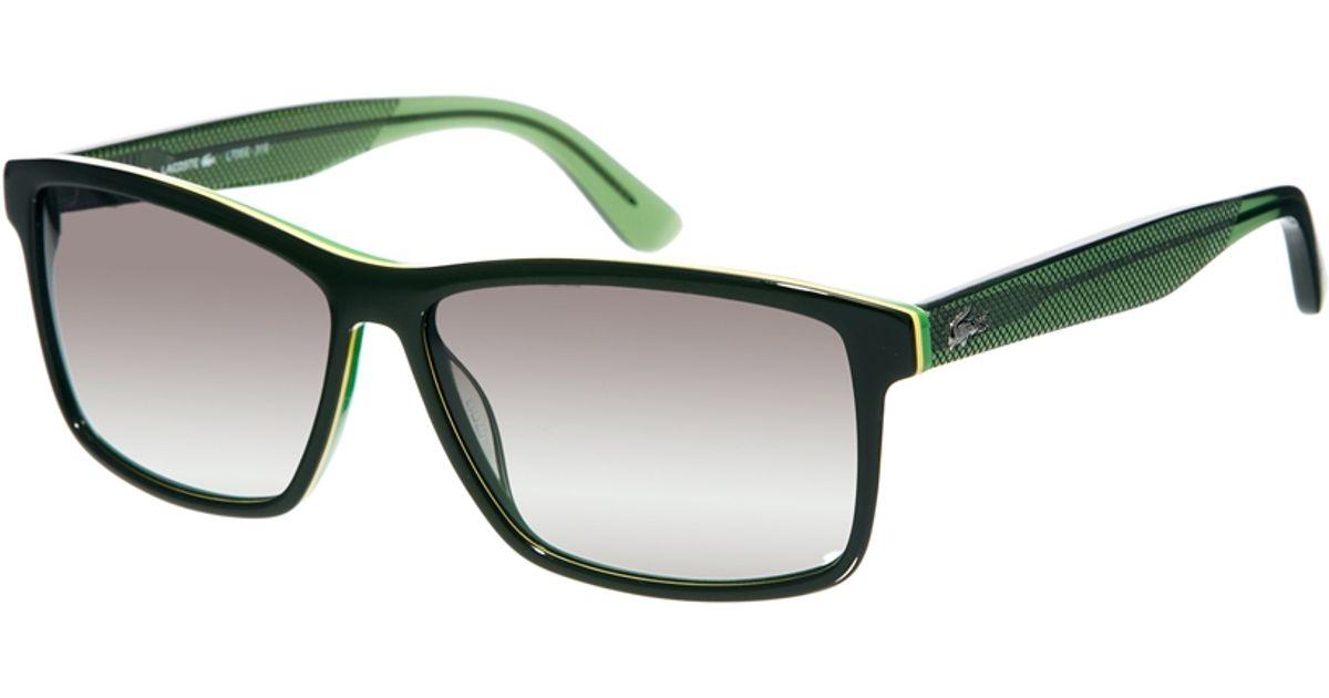 117141841bf Lacoste Wayfarer Sunglasses in Green for Men