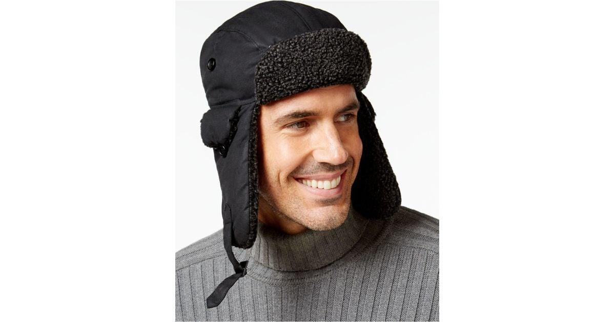 ad7ecbb86fd03 Barbour Fleece-lined Trapper Hat in Black for Men - Lyst