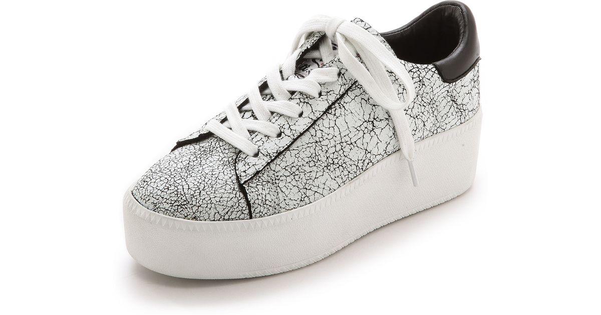 fa699a94ff5dd Lyst - Ash Cult Crackled Sneakers - White Black Black in Black