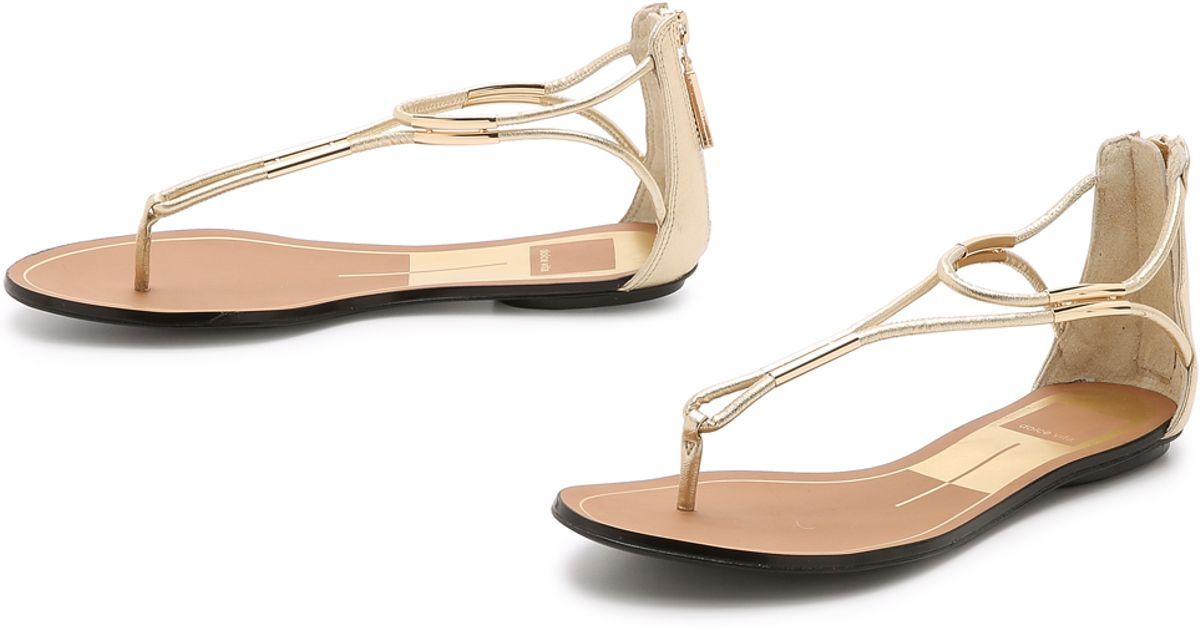 8cfaa532cc42 Dolce Vita Marnie Sandals - Gold in Metallic - Lyst