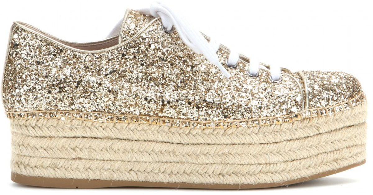Glitter platform sneakers Miu Miu fyJsH