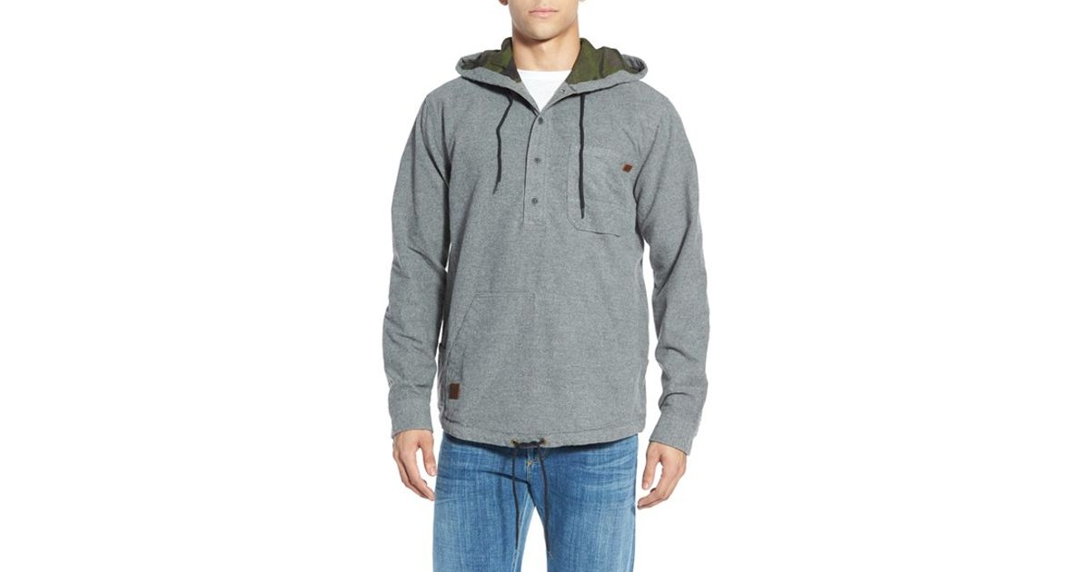 Billabong 'rover' Core Fit Flannel Pullover Hoodie in Gray for Men ...